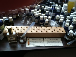 Filling perfume sample vials